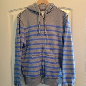 Aeropostale Men's Striped Zip Hoodie Sweatshirt